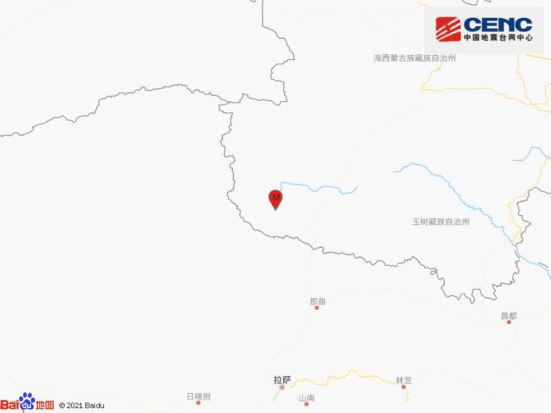 青海海西州唐古拉地区发生3.2级地震 震源深度10千米