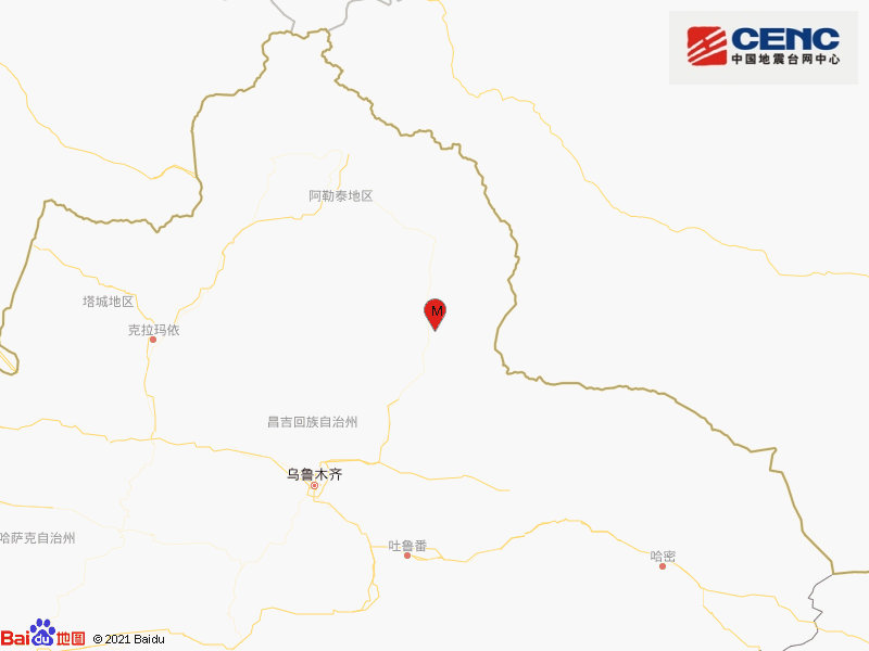 新疆阿勒泰地区富蕴县发生3.1级地震,震源深度7千米