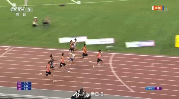 祝贺!苏炳添男子百米夺冠