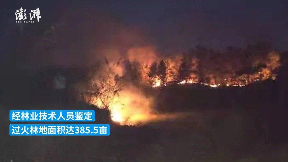 开荒烧秸秆引发森林火灾