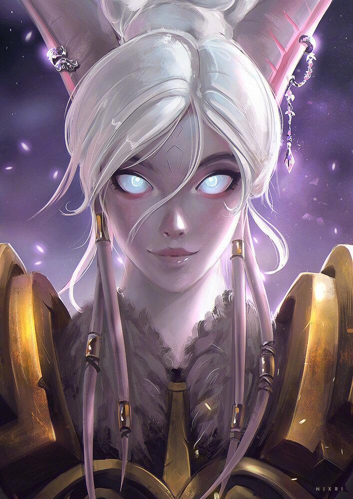 魔兽同人:阿古斯世界的传承 德莱尼美女圣骑士