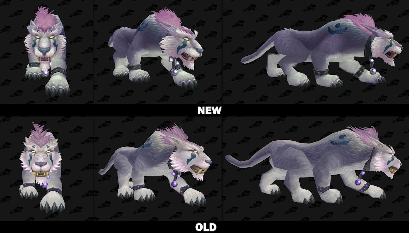 魔兽世界7.0各种族德鲁伊:猫形态新旧视频对比