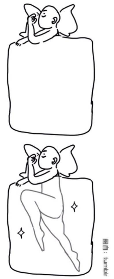 睡觉简笔画大全可爱