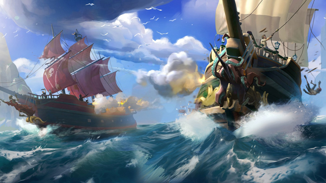 《盗贼之海》游戏截图与原画