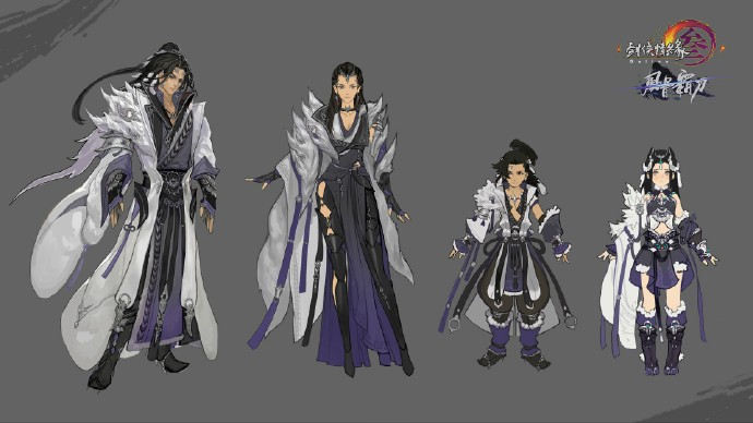 《剑网3》风骨霸刀全门派新校服设计图分享