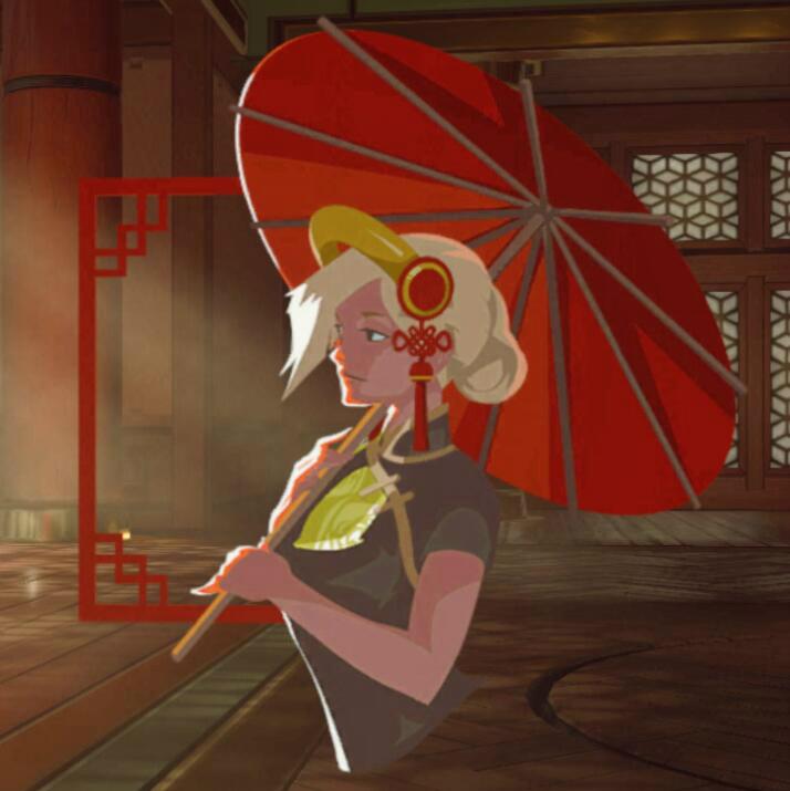喷漆-天使-撑伞