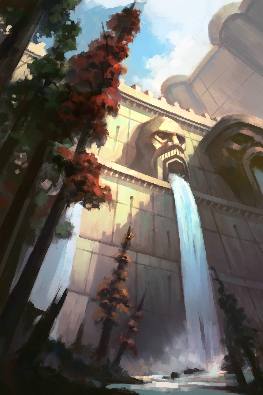 魔兽同人 经典怀旧服主题绘 洛克莫丹巨石水坝