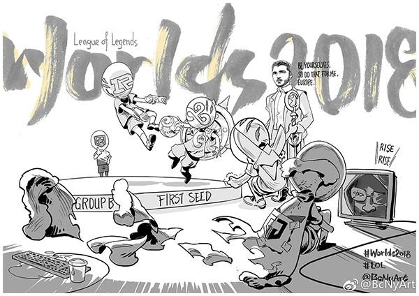 画师绘制世界赛漫画