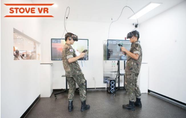 韩国军方通过VR游戏为士兵减压