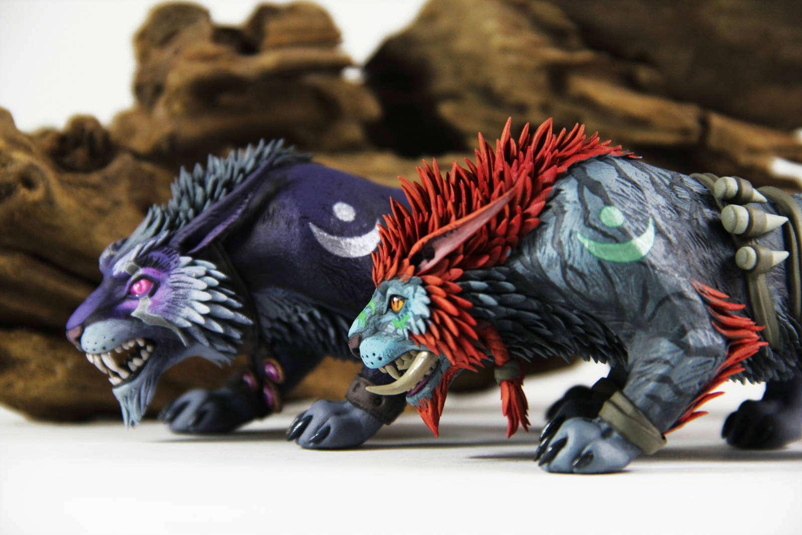 魔兽国外玩家手工作品欣赏 暗夜精灵与巨魔德鲁伊