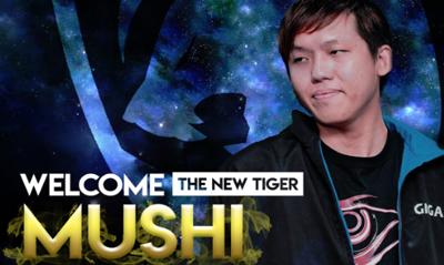 前Minor冠军Tigers人员变动,老将Mushi加盟