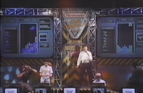 1990年任天堂世界大赛上的俄罗斯方块项目