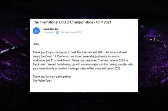TI11或将推迟至2022年举办