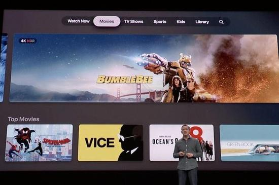 用户在Apple TV APP可收看各大平台视频内容