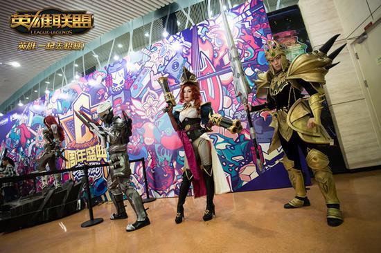 往届周年庆狂欢盛典现场cosplay