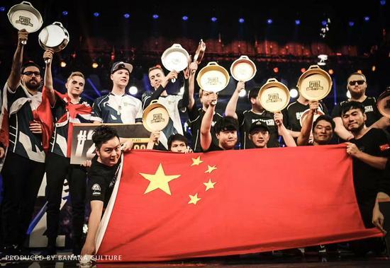 中国队近年来屡次在全球赛事中摘得头名