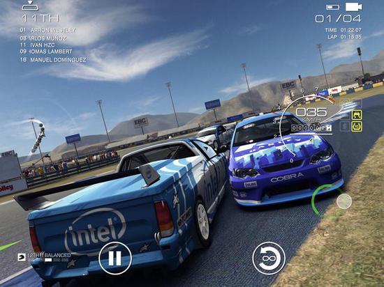 毕竟是pc移植类赛车游戏,画面真是没的说,希望安卓版快点上架吧!
