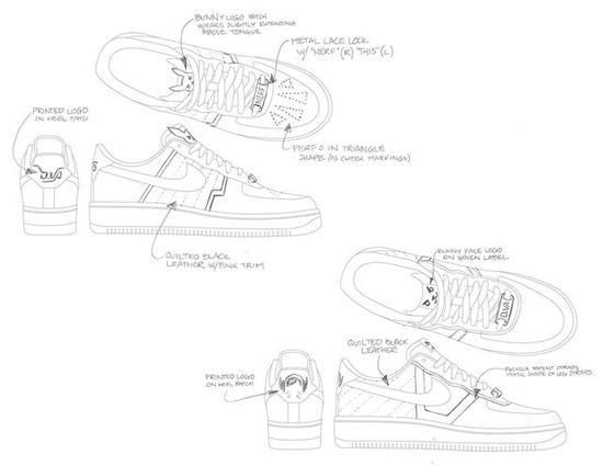 Cao与设计师参与的其中一款样式,非成品设计图(图片来源:Kotaku)