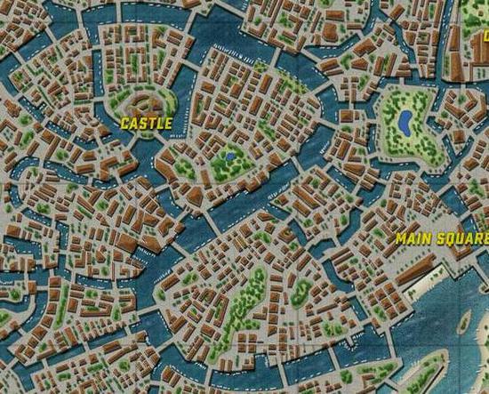 通过和现实威尼斯水城的对比图可以看出,这个新地图确实是以此为蓝本制作的。