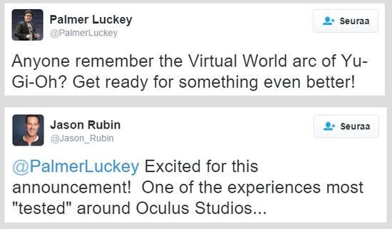 让梦想更接近现实 Oculus或推出VR版《游戏王》