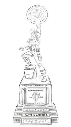 漫威将打造美队雕像:高4米 重1吨 还将搞死钢铁侠
