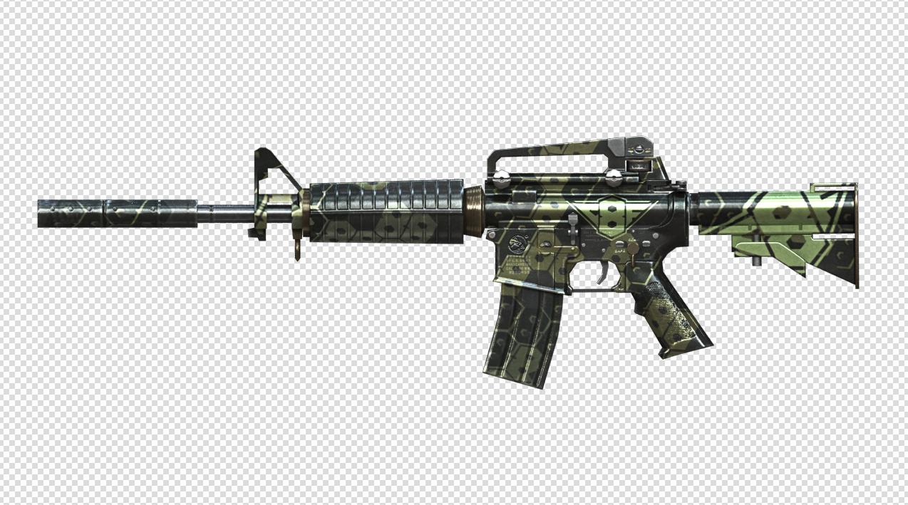 M4A1簡筆畫