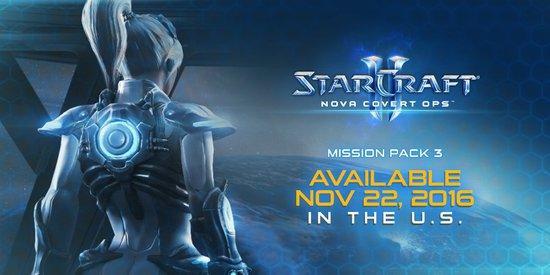 《星际2诺娃隐秘行动》第三部分将于11月22日发布
