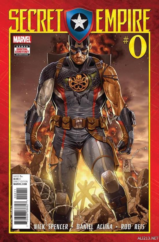 封面的角色日前预览序章真身和曝光,九头蛇美国漫画的a封面漫画公布版队长k图片