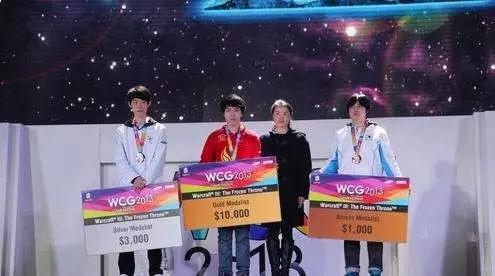 WAR3总决赛上TH000以完美的表现战胜moon,获得了WCG最后一个魔兽争霸项目的冠军