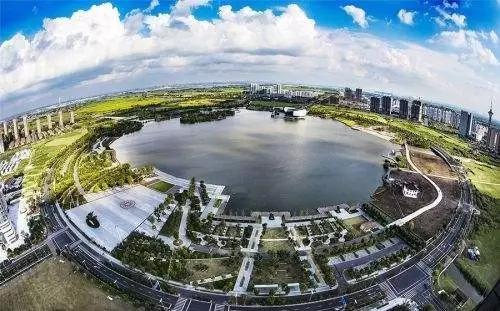 天镜湖俯瞰图