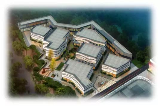 孟州保税电竞小镇孵化创业园俯瞰图