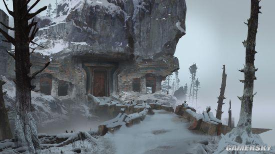 《战神》新作公布多张原画奎爷父子雪地撸巨兽