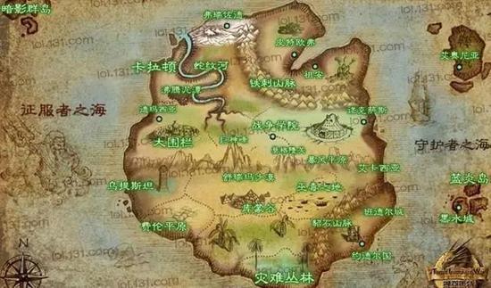 瓦罗兰大陆地图