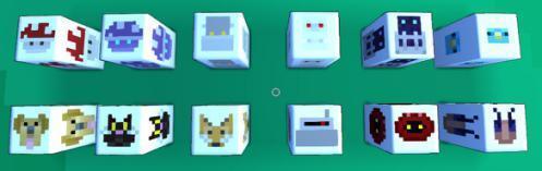 另外一种是音符方块,从A到G的音符方块(C D E F G A B对应1 2 3 4 5 6 7),切换音符方法同上。