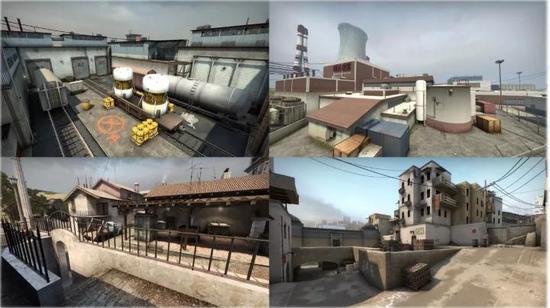 老版本的四张地图
