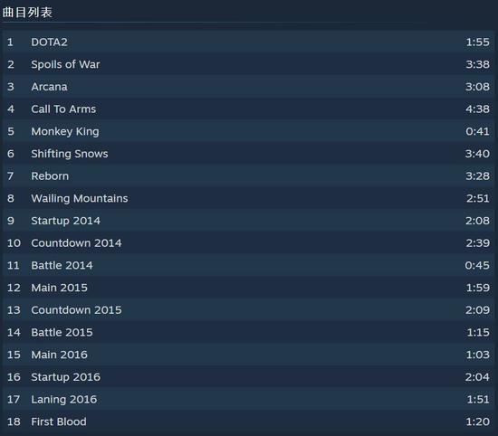 【天龙扑克】售价28元!DOTA2原声音乐带上架Steam