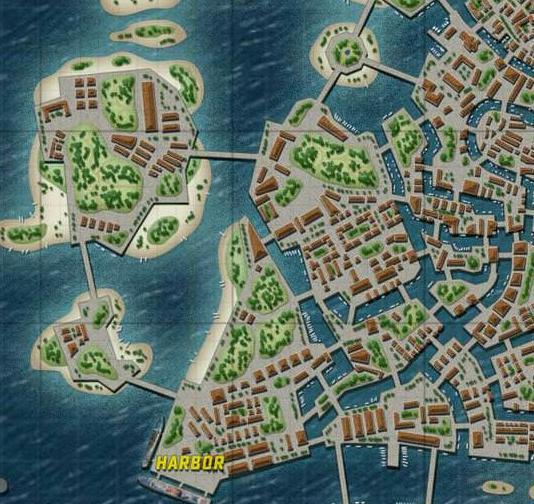 整体风格完全是复刻水城威尼斯,纵横交错的水路和狭窄的航道。