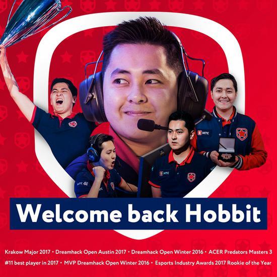 《【煜星平台网】老将Hobbit回归 Gambit青训建立六人体系》