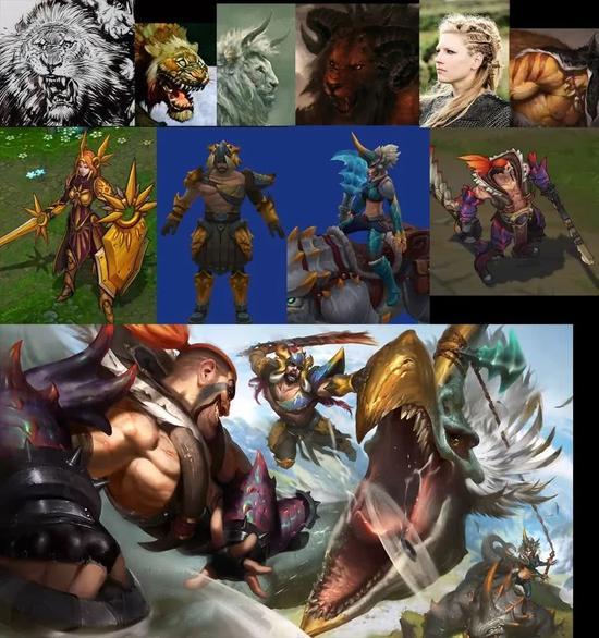 野兽猎人系列此前推出德莱文、猪女、蛮王三个英雄皮肤