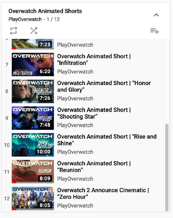 《【煜星注册平台】守望先锋官方youtube列表更新,新CG?新地图?还是守望2动画?》