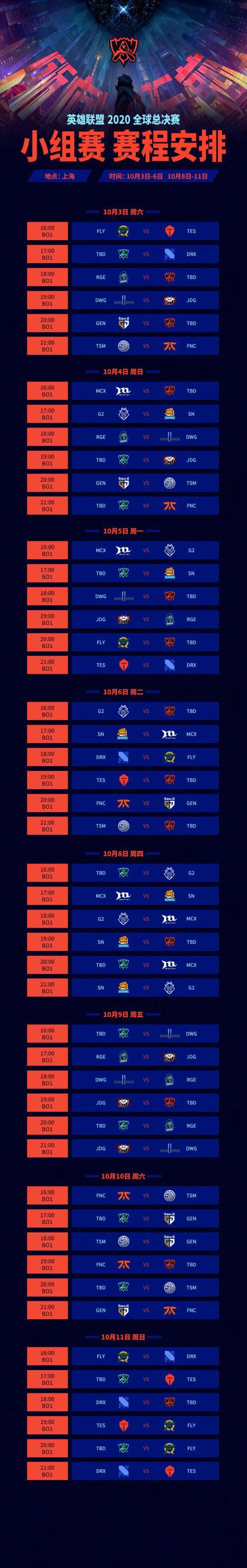 【天龙扑克】S10赛程公布:入围赛首日LGD登场 TES在10.3日迎来首秀