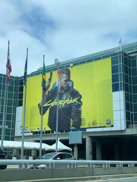 《赛博朋克2077》E3广告海报
