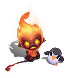 地狱火系列皮肤,与地狱火牛头为同系列皮肤。