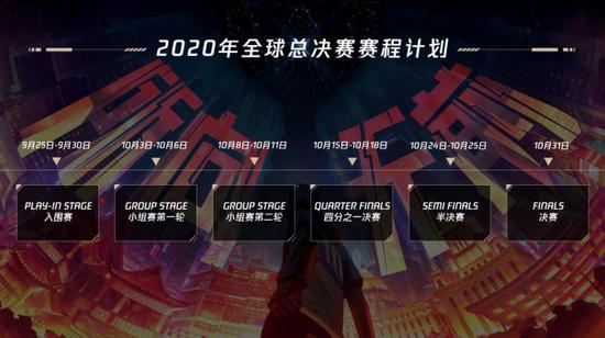 官宣:2020年全球总决赛赛程计划公布