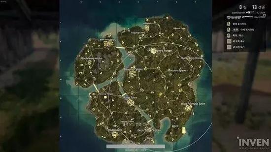 ▲第一个圈几乎涵盖了整个地图。