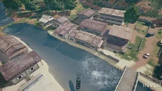▲新地图的设计是位于赤道附近的一个岛屿。这里有许多破旧的房子。