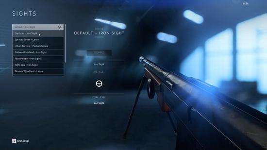 玩家的主武器自定义界面: