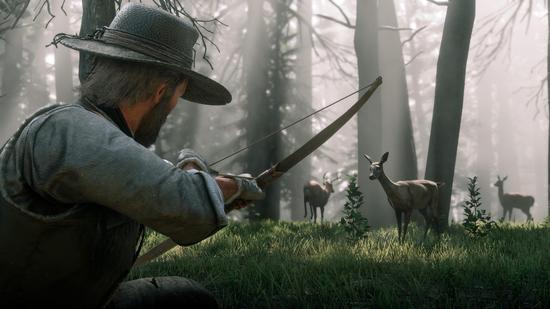 《荒野大镖客2》中文官网更新 野生动物大量细节公布