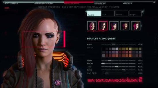 《赛博朋克2077》角色创建选项将不受限于性别