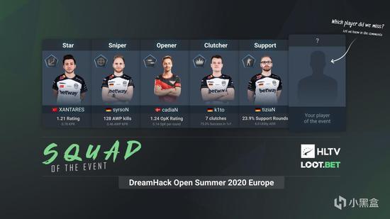 HLTV公布DH夏季公开赛欧美赛区的最佳阵容